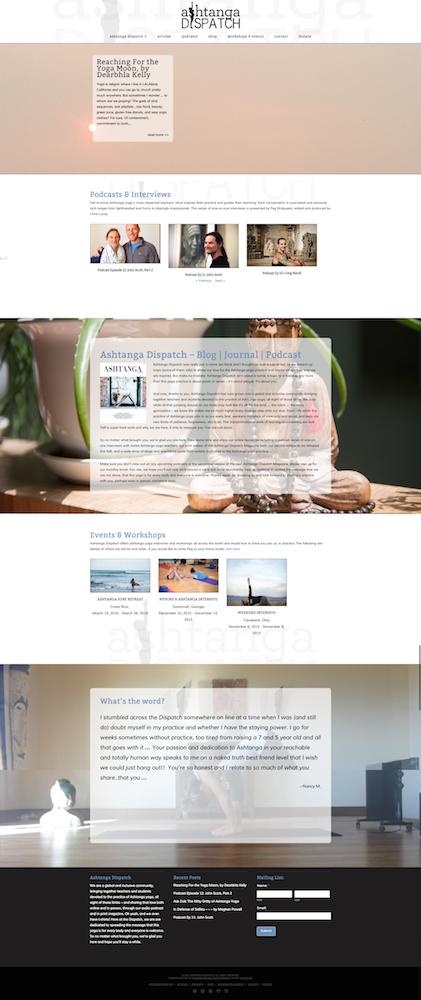 Ashtanga Dispatch web design